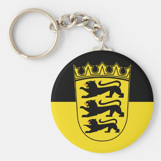 Baden-Württemberg (State, Lesser Arms), Germany Key Ring