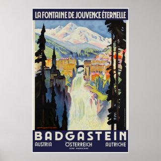 Badgastein, Austria, Travel Ski Poster