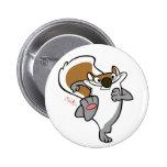 badge grey squirrel ピン