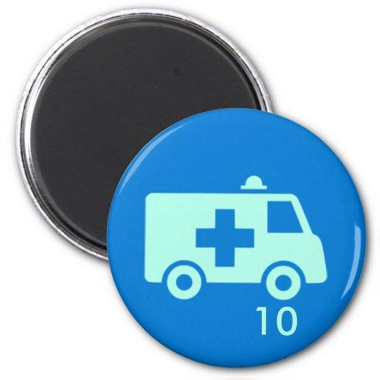 Badge Magnet - Ambulance 10