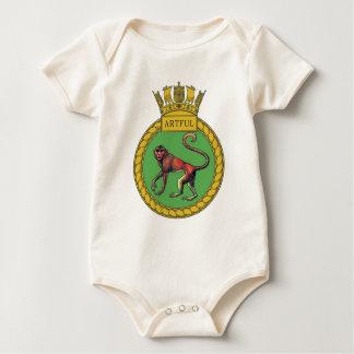Badge of HMS Artful Baby Bodysuit
