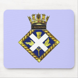 Badge of HMS Caledonia Mouse Mat