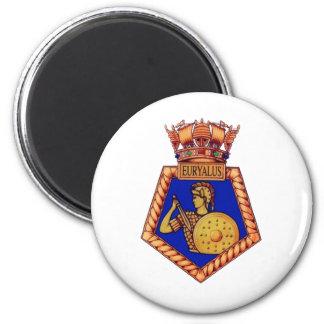 Badge of HMS Euralyus, Former British Naval vessel 6 Cm Round Magnet
