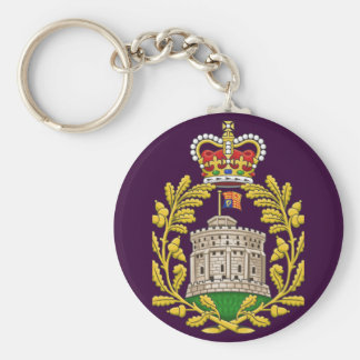Badge of the House of Windsor Basic Round Button Key Ring