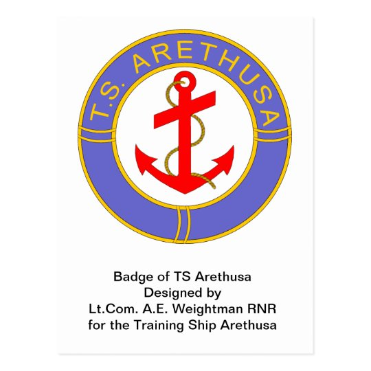 Badge of ts arethusa postcard for Ts arethusa pictures