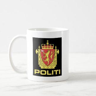 Badge the Norwegian Police Service, Norway Basic White Mug