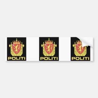 Badge the Norwegian Police Service, Norway Bumper Sticker
