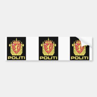 Badge the Norwegian Police Service, Norway Bumper Sticker