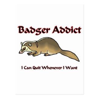 Badger Addict Postcard