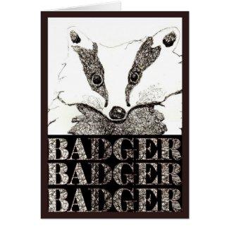 Badger, Badger, Badger card by Jayne Herbert