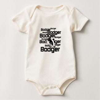 Badger Badger Badger Design Baby Bodysuit