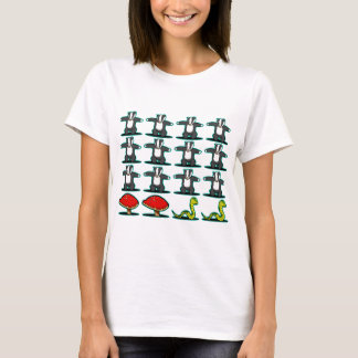 Badger, badger, badger, mushroom, oh snake! T-Shirt
