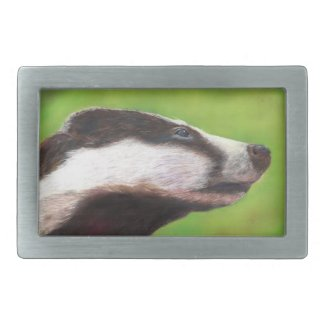 Badger belt buckle (a327)