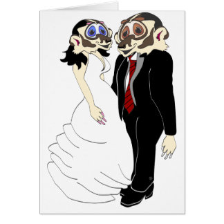 Badger Bride and Groom Card
