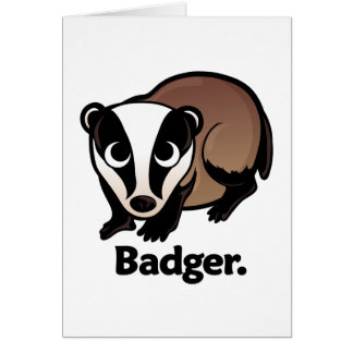 Badger. Card