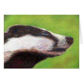 Badger card (a330) by Jayne Herbert