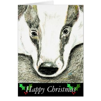 Badger Christmas card