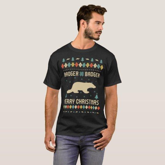 Badger Christmas T-Shirt