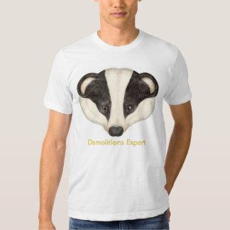 Badger Demolitions Expert T Shirts