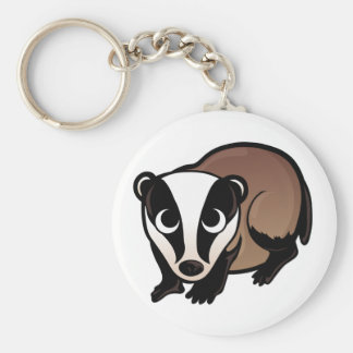 Badger Design Key Ring