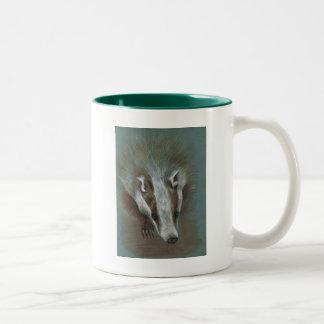 badger face Two-Tone mug