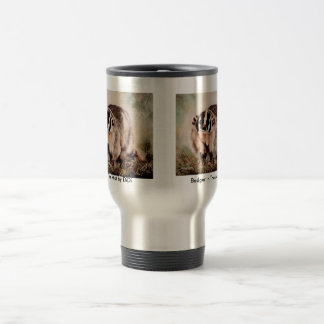 Badger In The Mist by DiDi Stainless Steel Travel Mug