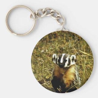 Badger Key Ring
