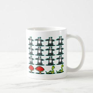 Badger mushroom snake coffee mug