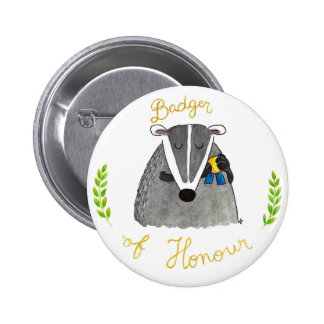 BADGER OF HONOUR button by Nicole Janes