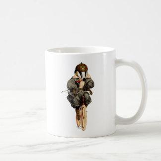 Badger on Vintage Bicycle Coffee Mug