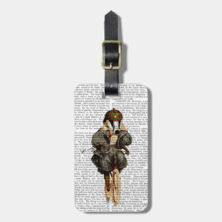 Badger on Vintage Bicycle Luggage Tag