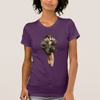 Badger on Vintage Bicycle T-Shirt