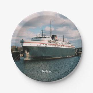 Badger paper plate
