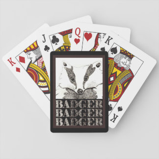 Badger playing cards (A281)