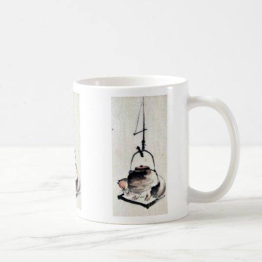 Badger tea kettle Ukiyoe Coffee Mugs