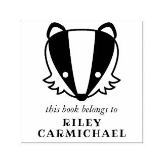 Badger This Book Belongs To - Name Self-inking Stamp