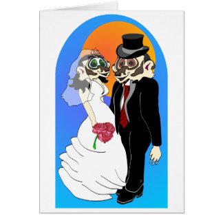 Badger Wedding Card