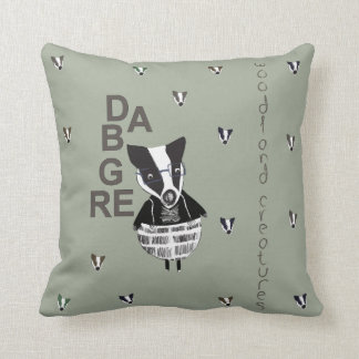 Badger Woodland Creature Cushion