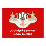Badgering Badger Save The Date Custom Invites