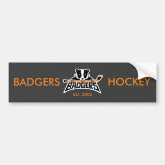 Badgers Hockey Logo Bumper Sticker