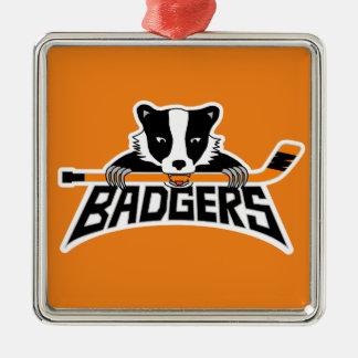 Badgers Hockey Logo Christmas Ornament