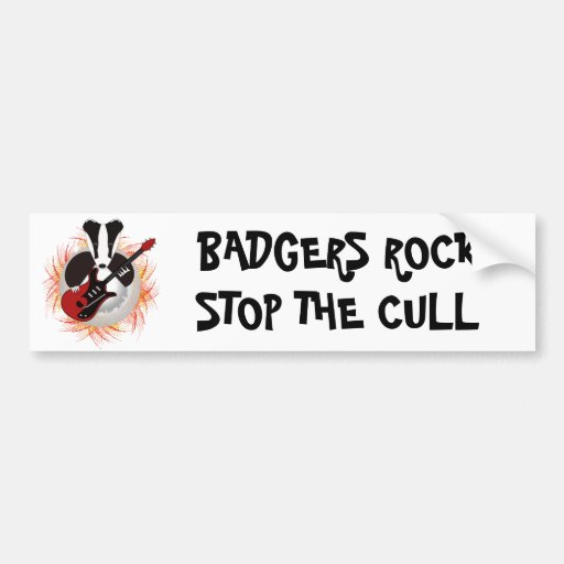 Badgers rock car sticker bumper sticker