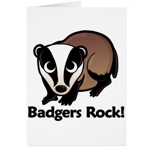 Badgers Rock! Greeting Card