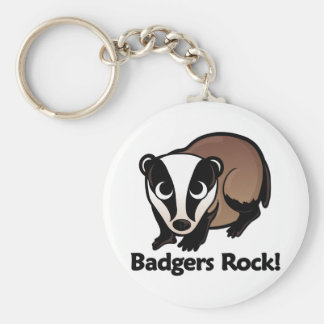 Badgers Rock! Key Ring