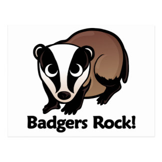 Badgers Rock! Postcard