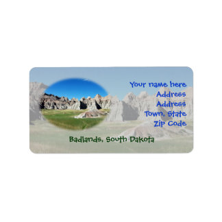 Badlands Address Label