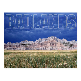 Badlands and Prairie South Dakota Postcard