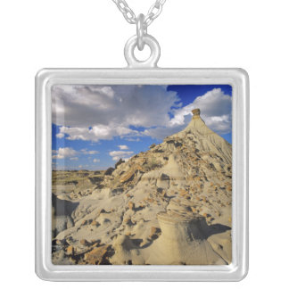 Badlands at Dinosaur Provincial Park in Alberta, 3 Silver Plated Necklace