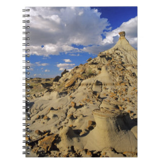 Badlands at Dinosaur Provincial Park in Alberta, 3 Spiral Notebook