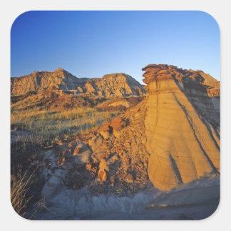 Badlands formations at Dinosaur Provincial Park 3 Square Sticker